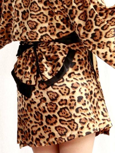 画像3: SEXYサテン豹柄花魁着物ドレス
