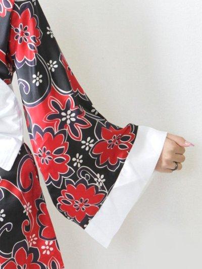 画像3: デカリボン個性派和柄ミニ花魁着物ドレス
