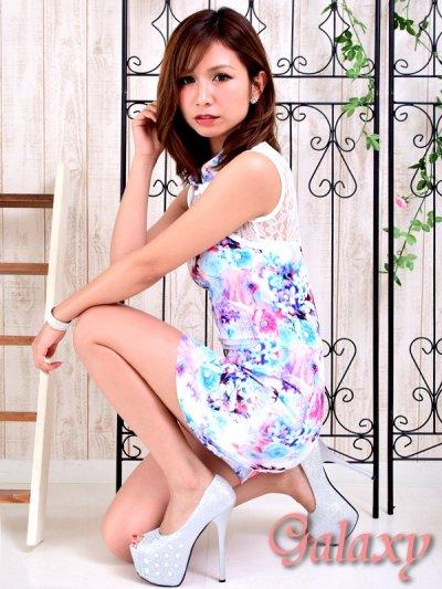 画像3: 美スタイル*レース切替花柄チャイナワンピースドレス*2color
