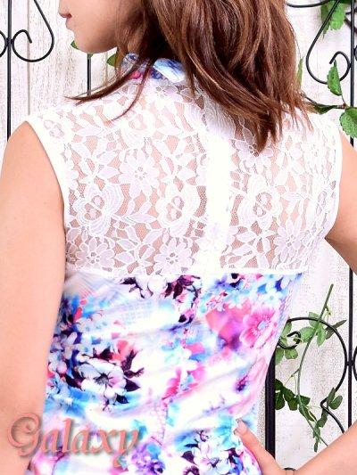 画像2: 美スタイル*レース切替花柄チャイナワンピースドレス*2color