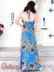 画像4: ジルコニアライン*GOLDラメ入り和風花柄ストレッチロングドレス*2color*M/L (4)