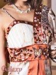 画像9: バタフライ&ビジュー付き花魁着物ミニinロングドレス*3color (9)
