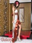 画像4: バタフライ&ビジュー付き花魁着物ミニinロングドレス*3color (4)