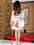 画像6: デカリボン帯*ゴールドパイピング和柄サテン着物ドレス*3color (6)