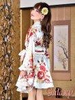 画像7: デカリボン帯*ゴールドパイピング和柄サテン着物ドレス*3color (7)