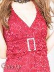 画像5: Lサイズ★クリスタルストーンバックル付き上品総フラワーレースロングドレス (5)