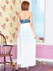 画像10: 豪華クリスタルビジュー装飾*シフォンヴェール付ペルシャ柄インナーミニロングドレス*2color*M/L (10)