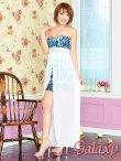 画像8: 豪華クリスタルビジュー装飾*シフォンヴェール付ペルシャ柄インナーミニロングドレス*2color*M/L (8)