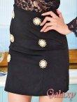 画像6: シースルー&レーストップス*大粒パール飾り釦SEXYセットアップ*M/L/XL (6)