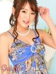 画像4: GOLDラメトリミング*和風花柄ランダムカットミニドレス*4color*M/L (4)