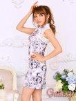 画像3: 美スタイル*レース切替花柄チャイナワンピースドレス*2color (3)