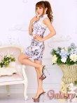 画像4: 美スタイル*レース切替花柄チャイナワンピースドレス*2color (4)