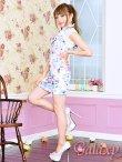 画像10: 美スタイル*レース切替花柄チャイナワンピースドレス*2color (10)