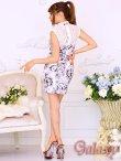 画像5: 美スタイル*レース切替花柄チャイナワンピースドレス*2color (5)