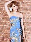 画像11: 絢爛華麗*SEXYスリット煌和風花柄ベアチャイナロングドレス*2color (11)