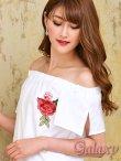 画像6: 薔薇刺繍入り*オフショルチュニックシャツワンピース*3color (6)