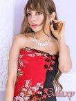 画像6: 絢爛華麗*SEXYスリット煌和風花柄ベアチャイナロングドレス*2color (6)