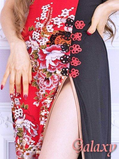 画像3: 絢爛華麗*SEXYスリット煌和風花柄ベアチャイナロングドレス*2color
