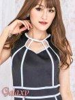 画像6: 【L.A.ドレス】胸元SEXY開きパイピングミニワンピース*2color*M/L (6)