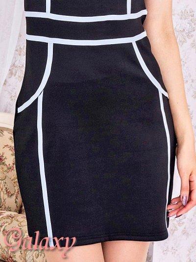 画像2: 【L.A.ドレス】胸元SEXY開きパイピングミニワンピース*2color*M/L