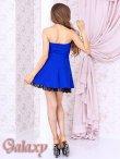 画像11: 胸元合皮切替*裾花柄レースフリルフレアーミニドレス*3color (11)