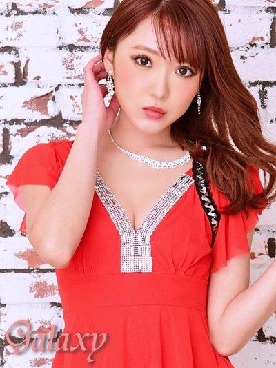 画像3: 胸元Vライン*ビジュ&スパンコール装飾ストレッチミニワンピ*3color