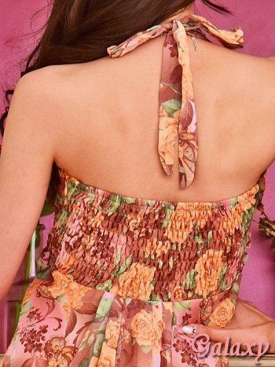 画像2: フラワーブローチ付*ロマンティックフラワー*シフォンミニドレス*2color*M/Lサイズ