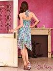 画像11: フラワーブローチ付*ロマンティックフラワー*シフォンミニドレス*2color*M/Lサイズ (11)
