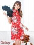 画像16: チャイナボタン付*小花柄サテンチャイナミニドレス*4color (16)