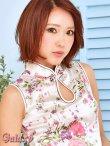 画像15: チャイナボタン付*小花柄サテンチャイナミニドレス*4color (15)
