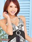 画像12: モノクロシャンデリア柄*ケミカルレーススカートインナーミニロングキャバドレス*2color (12)