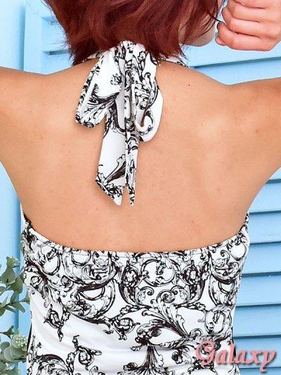 画像3: モノクロシャンデリア柄*ケミカルレーススカートインナーミニロングキャバドレス*2color
