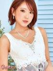 画像6: 豪華クリスタルビジュー&パール装飾*フラワーレース重ねふわふわ2段ティアードオーガンジー*花柄インナーミニロングドレス*1color*M/L (6)