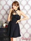 画像13: リング付きSEXYホルター*Aラインミニワンピースドレス*3color (13)