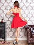 画像5: リング付きSEXYホルター*Aラインミニワンピースドレス*3color (5)