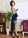 画像3: 【2way】テールカットBlackヴェール付*豪華ビジュー装飾薔薇柄インナーミニロングドレス (3)