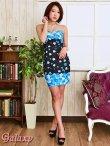 画像8: 【2way】テールカットBlackヴェール付*豪華ビジュー装飾薔薇柄インナーミニロングドレス (8)