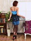 画像5: 【2way】テールカットBlackヴェール付*豪華ビジュー装飾薔薇柄インナーミニロングドレス (5)