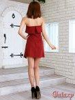 画像11: ボウタイ付き*ラップスカートベアミニワンピースドレス*2color*M/L/XL (11)