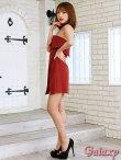 画像10: ボウタイ付き*ラップスカートベアミニワンピースドレス*2color*M/L/XL (10)