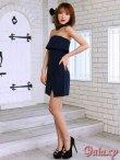 画像4: ボウタイ付き*ラップスカートベアミニワンピースドレス*2color*M/L/XL (4)