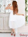 画像5: オーガンジーリボン*ウエストレースSEXYミニinロングドレス*2color (5)