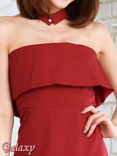 画像1: ボウタイ付き*ラップスカートベアミニワンピースドレス*2color*M/L/XL