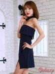 画像3: ボウタイ付き*ラップスカートベアミニワンピースドレス*2color*M/L/XL (3)