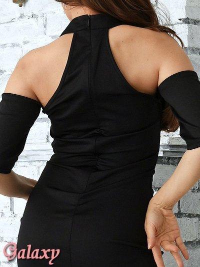 画像3: 袖付き薔薇刺繍*肩開きSEXYオフショルミニワンピース*1color*M/L